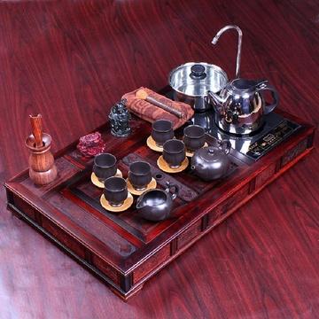 郑品4合1电磁炉红木茶盘 酸枝木紫砂茶具套装 高档茶具礼品z-822058