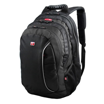 男女款15.4寸电脑背包双肩包(黑色)