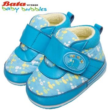 bata童鞋女童羊皮鞋婴儿软底学步鞋男童休闲鞋宝宝鞋